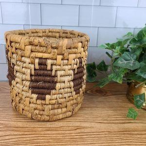 Vintage raffia planter